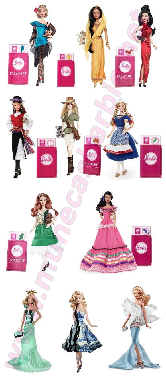 Barbies - Muñecas del Mundo con vestidos regionales de cada país